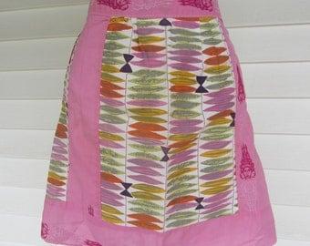 1960s Pink Asian Tiki Apron - XL
