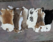 One Average Rabbit Hide - A Quality Assorted Colors. Stock No. ARBT