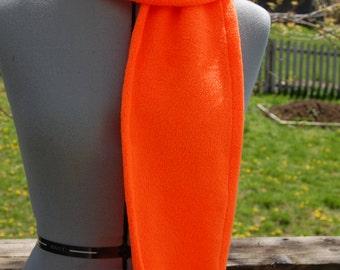 Neon Orange Fleece Scarf