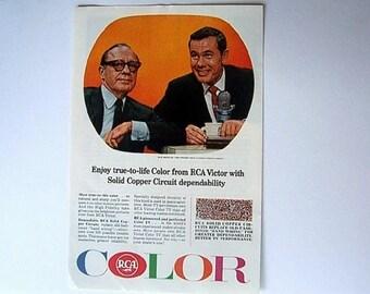 Original Vintage AD Advertisement Kitchen Print   *Additional Ads Ship Free*  RCA Color TV Johnny Carson Jack Benny