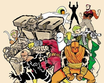 COPRA ROUND ONE, Sketch & Signed Edition, collects issues 1 - 6