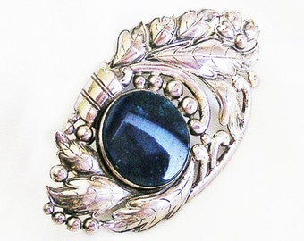 Otis Sterling Silver Lapis Blue Big Waist Brooch