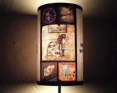 Punk Rock Lamp Shade Lampshade - lighting, gift for him, contemporary, ock n roll decor,punk rock decor,gift for a musician, teen room decor