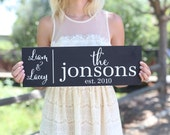 Personalized Family Sign Wedding Christmas Holiday Bridal Shower Gift  (Item Number MHD20007)