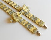 Yellow and Gray Chevron Bowtie and Suspenders Set - Men's Teen, Youth, Boy, Toddler, Infant2 weeks before shipping  EASTER is March 27th!!