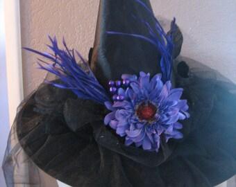 Purple Daisy witch hat