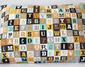 12 x 16 Lumbar Pillow Cover Riley Blake Sasparilla Fabric Baby Boy Nursery Decor