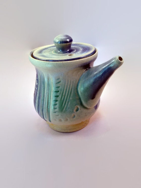 Carved, 2 Cup Teapot by Lori Buff