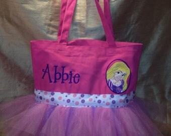 Rapunzel Canvas Tutu Tote Bag personalized