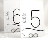 Modern Table Number Cards for Wedding Reception or Any Celebration