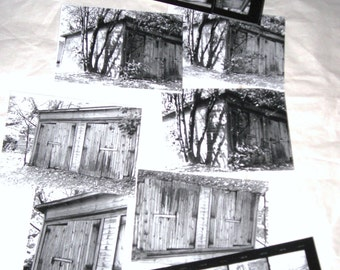 Spooky Old Barns Snaphots..... Vintage Black and White Photos