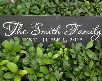 Wedding Sign, Personalized Family Name Signs, Family Sign