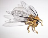 Save the Bees - Steampunk brooch - Small Bee Lightbulb Brooch - Unique Steampunk Steam Punk Clockwork Jewelry