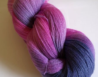 Bubblegum Celestial laceweight yarn