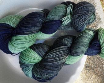 Oh My, Mycroft --Classic Sock-- Hand Painted Superwash Merino Wool/Nylon Sock Yarn