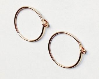 Rose Gold Hoop Earrings  Hoop Earrings  14K Rose Gold Filled Hoop Earrings  Small Hoop Earrings  Gold Hoop Earrings