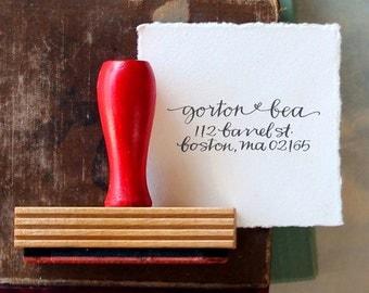 Custom Return Address Stamp // SIMPLE // hand calligraphy