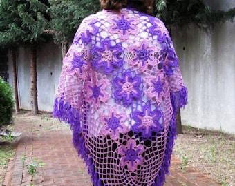 İnstant Download, PDF Tutorial  Pattern... Beautiful Women's Shawl, Wrap, Scarf For All Seasons