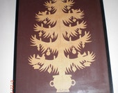 Christmas Tree Paper Cutting Papercutting Art Framed SCHERENSCHNITT Design by CLAUDIA HOPF Salem , Massachusetts