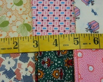 6 1930s Reproduction Cotton Fat Quarters (683E)
