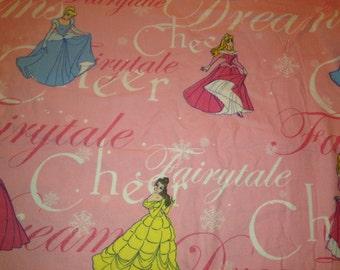 Three Charming Disney's Princesses Cinderella, Belle, and Auora Twin Flat Sheet