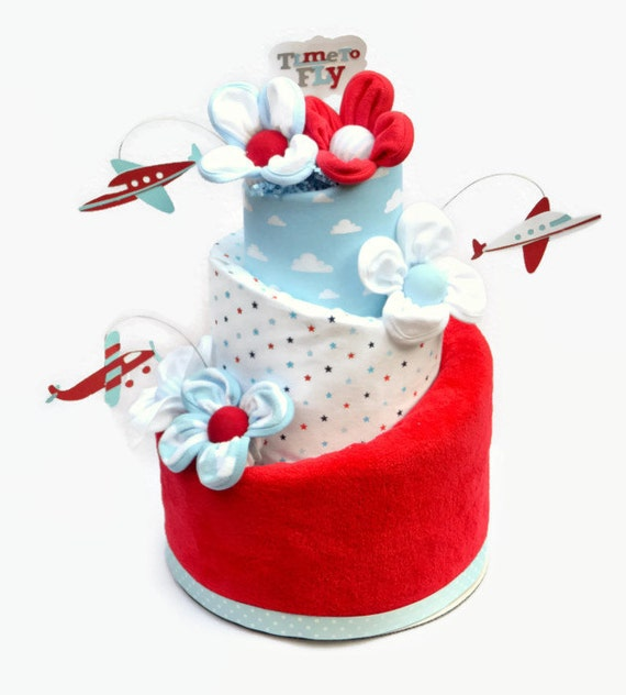 Airplane Baby Shower, Up Up and Away Baby Shower, Airplane Diaper Cake, Travel Baby Shower, Airplane Shower Decor, Airplane Decorations