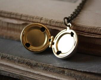 Ball Locket - Brass Locket - Antique Locket - Round Locket