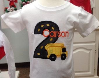 Birthday Shirt Dump Truck Construction Birthday Shirt GreatStitch Construction Shirt