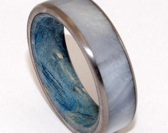 wedding rings, titanium rings, wood rings, mens rings, womens ring, Titanium Wedding Bands, Eco-Friendly Rings - OCEANIA