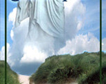 Jesus Over Footprints in Sand Bookmark
