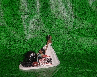 african american football wedding cake toppers philadelphia eagles football fan sports wedding by 10595