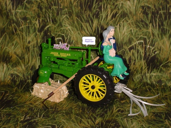 Couple On Tractor : Happy couple country farm tractor fun wedding bride and groom