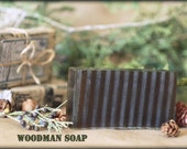 Organic Soap for Men - Woodman. Vegan, woodsy, natural gift for men and those who enjoy earthy scents