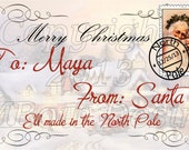 Personalized Printable From Old World Santa Gift Tags