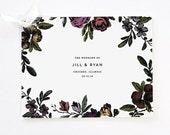 Flower Booklet Wedding Program, DIY Wedding Program, Flower Wedding Program, Wedding Program Booklet, Vintage Flower, Order of Service