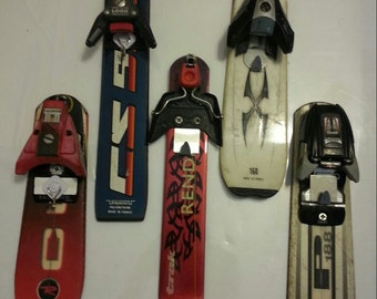 Key Holder made from recycled ski tail makes is a great ski gift for any skier or snowboarder.