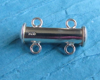 Two Strand Sterling Silver Magnetic Sliding Clasp