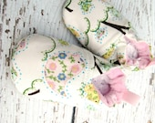 Classic Vegan Pretty Little Bird  All Fabric Soft Sole Baby Shoes / Made to Order / Babies Pink
