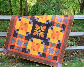 Quilt Pattern for Autumn Sunset Quilt