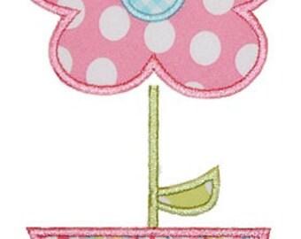 226 Flower Pot Machine Embroidery Applique Design