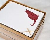 Brocade Cat Boxed Notes