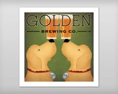 FREE to Personalize - Double GOLDEN Dog Beer Brewing Company print 8x8 up to 32x32 inches SIGNED