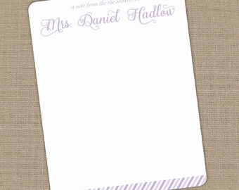 Personalized Engagement Flat Notecards