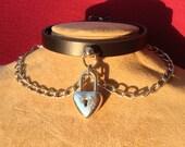 Lightweight Chain Collar with Heart Lock