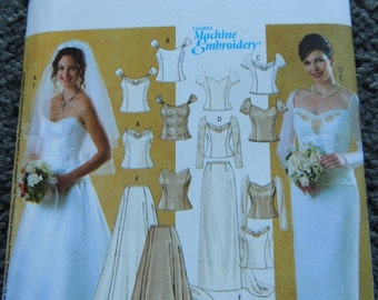 Butterick B4131 Misses two piece Wedding Outfit