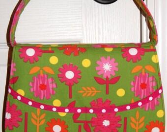 Hair Care ~ Barrette Organizer ~ Big Bows ~ Green Flowers ~ Hair Accessory Tote ~ Travel Bag ~ Bath & Beauty