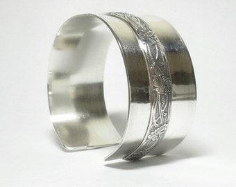 Sterling Silver Cuff Bracelet Designer Bracelet Artisan Bracelet Silversmith