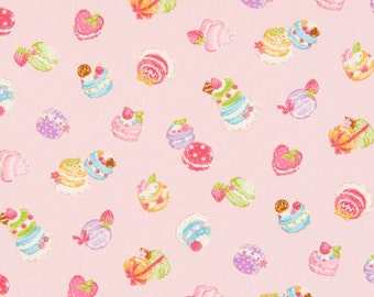 Cosmo Cotton Fabric Petit Cakes on Pink AP35407-1B