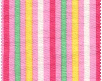 Simple Coordinates Cotton Fabric Quilt Gate  CR8876-417  Small Mulit Stripes on pink
