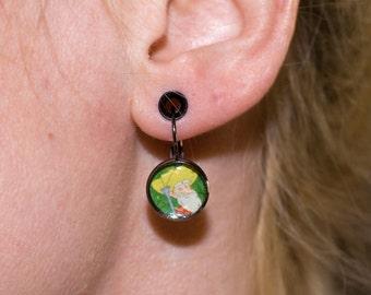 Aqua Teen Hunger Force Fan Art Earrings - Happy Time Harry and Jiggle Billy